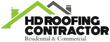 hd roofing contractor - logo