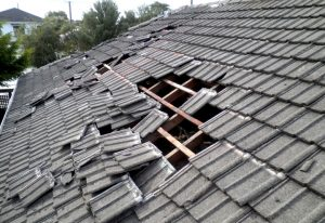 Roof Storm Damage Effects from bad weather